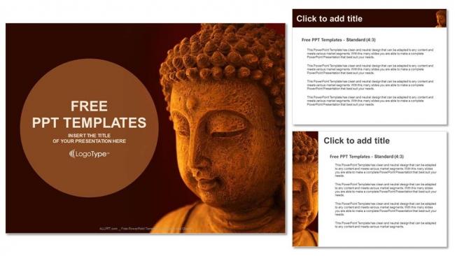 Descargar Presentaciones plantillas powerpoint Máscara de Buda