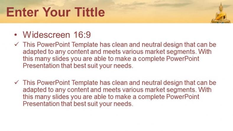 Presentaciones plantilla powerpointEstatua de Buda