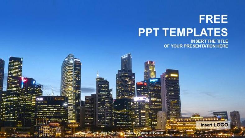 Plantilla Powerpoint: Edificios