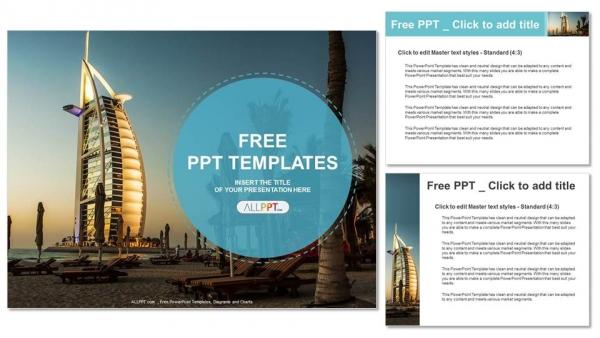 Presentaciones plantilla powerpointHotel Burj Al Arab en Dubai