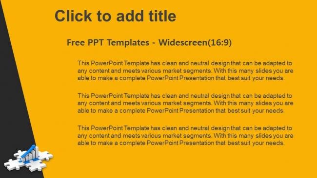 Presentaciones plantilla powerpointGráfico en Puzzle