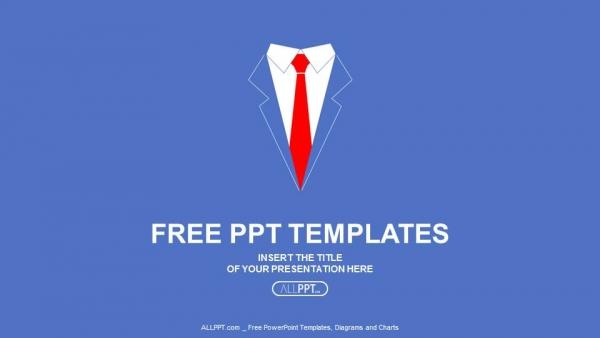 Presentaciones plantilla powerpointCamisa de hombre con corbata roja