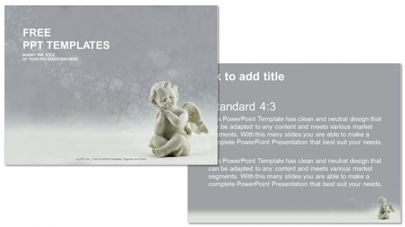 Diapositivas plantilla powerpointÁngel de cerámica