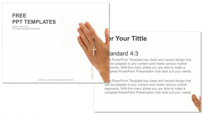 Presentaciones plantilla powerpointCruz del Cristianismo