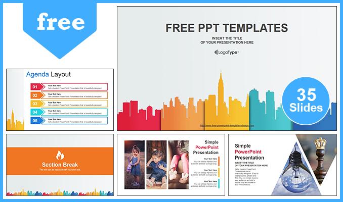 Descargar Presentaciones plantillas powerpointEdificios de la ciudad