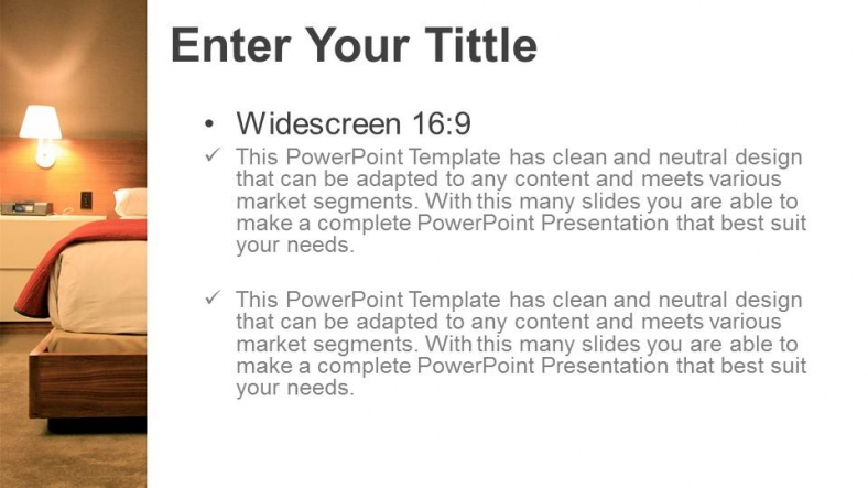 Diapositivas plantilla powerpointHabitación Clásica Bienes Raíces
