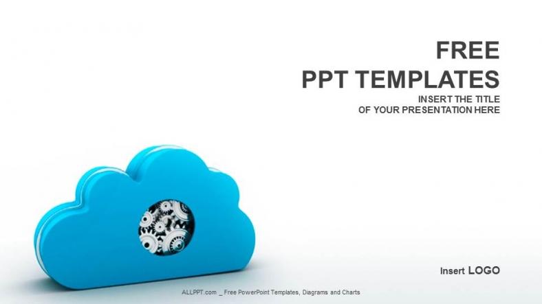 Diapositivas plantilla powerpointComputación en la nube