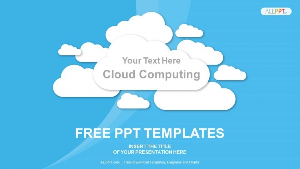 Diapositivas plantilla powerpointCloud Computing en azul