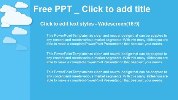 Powerpoint para presentacionesCloud Computing en azul