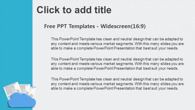 Diapositivas plantilla powerpointNubes y documentos