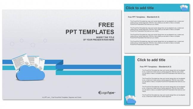 Presentaciones plantilla powerpointNubes y documentos