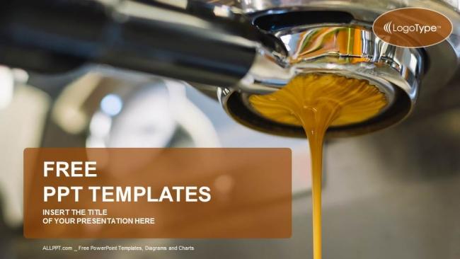 Presentaciones plantilla powerpointMáquina de café para hacer café espresso