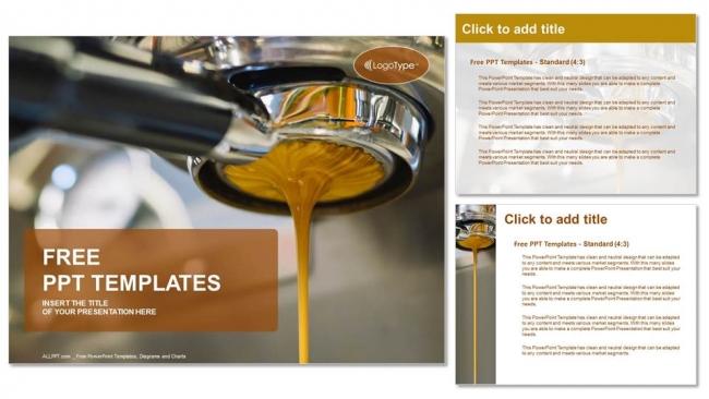 Powerpoint para presentacionesMáquina de café para hacer café espresso