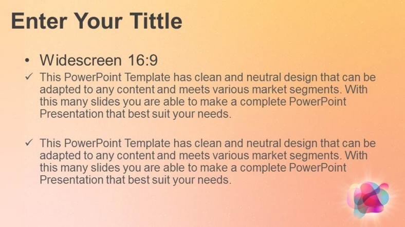 Presentaciones plantilla powerpointBurbujas de color