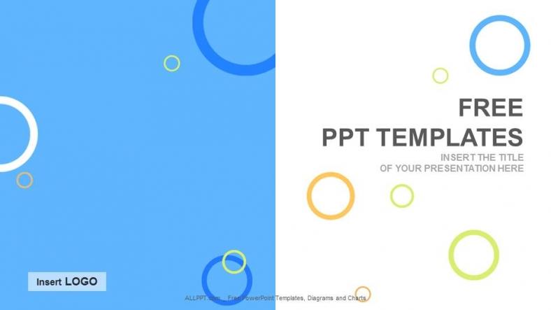 Presentaciones plantilla powerpointCírculos de colores