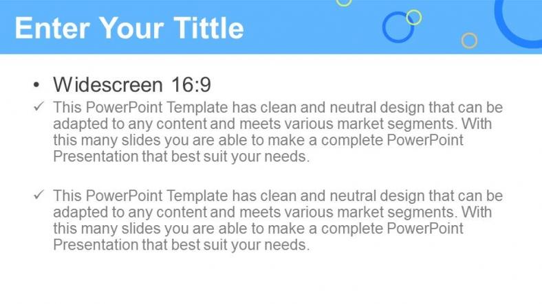 Powerpoint para presentacionesCírculos de colores
