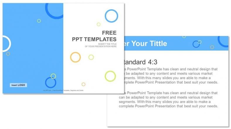 Diapositivas plantilla powerpointCírculos de colores