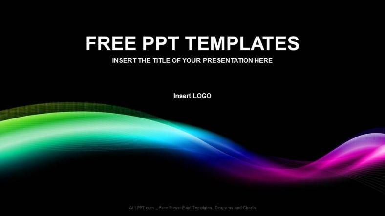 Diapositivas plantilla powerpointOnda de colores