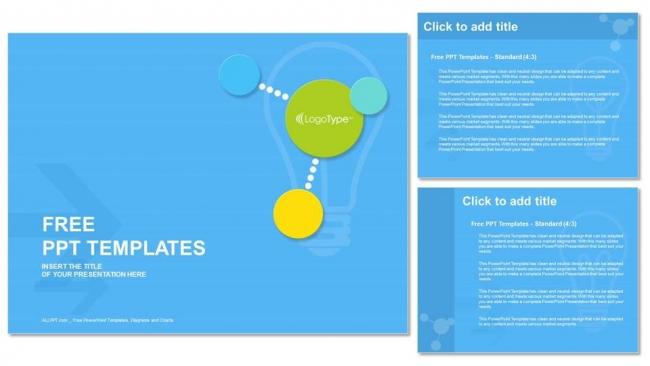 Powerpoint para presentacionesCírculos modernos y coloridos