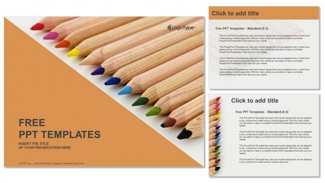 Powerpoint para presentacionesLápices de colores de madera