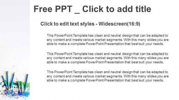 Descargar Presentaciones plantillas powerpointLápices de color con virutas afiladas