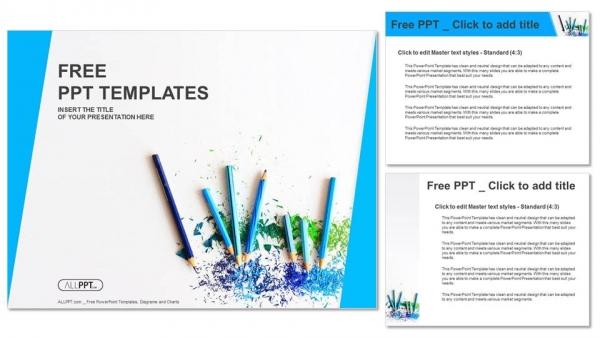 Powerpoint para presentacionesLápices de color con virutas afiladas