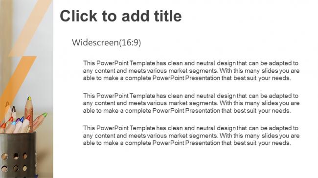 Descargar Presentaciones plantillas powerpointLápices de colores