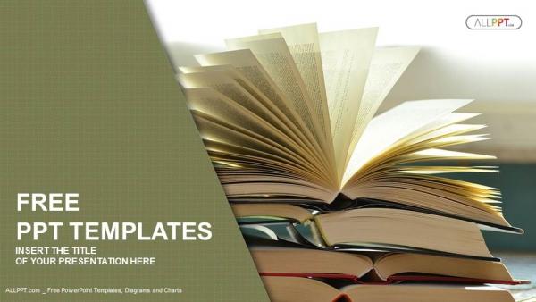 Powerpoint para presentacionesComposición con libros antiguos de tapa dura