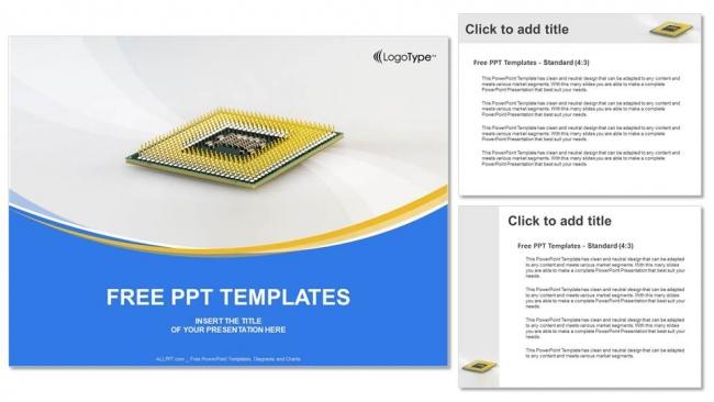 Descargar Presentaciones plantillas powerpointChip de CPU