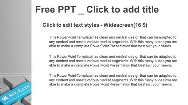Presentaciones plantilla powerpointteclado con tecla
