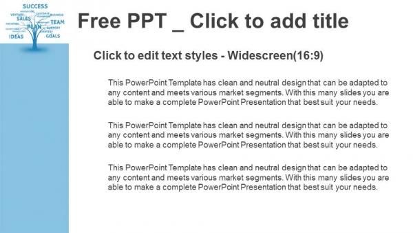 Descargar Presentaciones plantillas powerpointConcepto de la palabra azul árbol de la comercialización de liderazgo o
