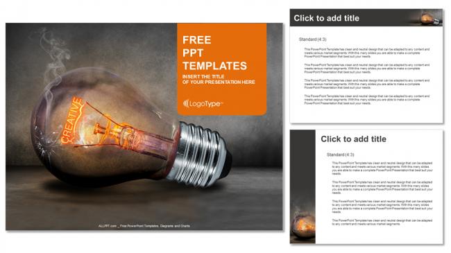 Descargar Presentaciones plantillas powerpointLámparas creativas