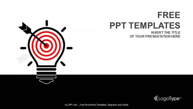 Powerpoint para presentacionesLámpara de luz creativa y blanco