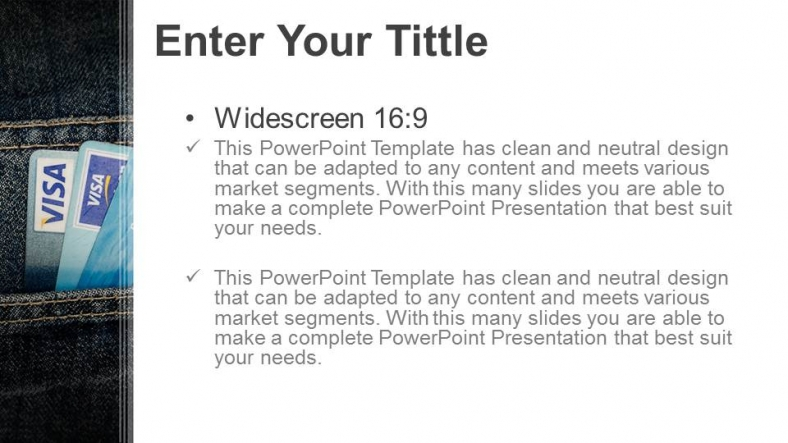 Diapositivas plantilla powerpointTarjeta de crédito