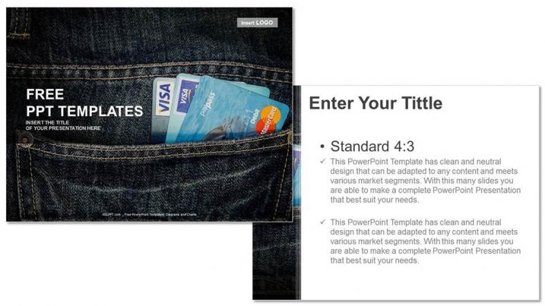 Presentaciones plantilla powerpointTarjeta de crédito