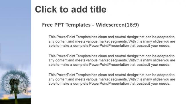 Descargar Presentaciones plantillas powerpointSemillas de diente de león