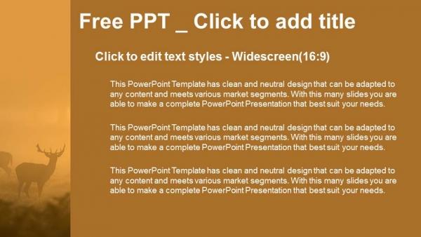 Descargar Presentaciones plantillas powerpointVenado en la niebla