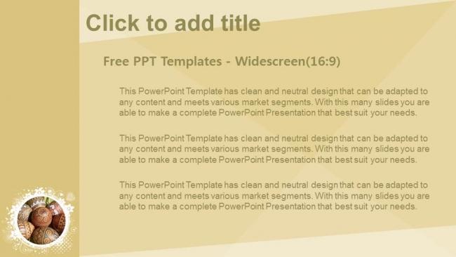 Presentaciones plantilla powerpointHuevos de Pascua