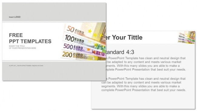 Powerpoint para presentacionesBilletes en euros