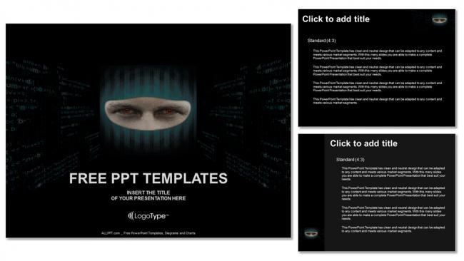 Diapositivas plantilla powerpointHacker de caras