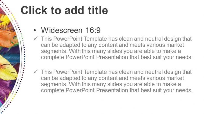 Descargar Presentaciones plantillas powerpointPlumas en colores