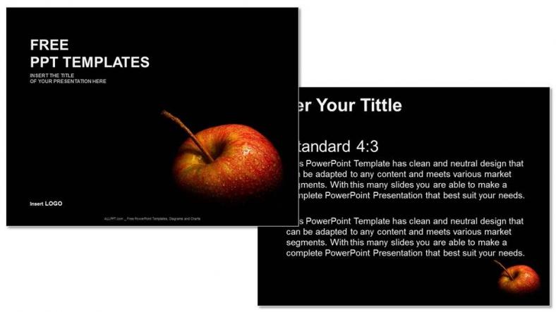 Presentaciones plantilla powerpoint Manzana sabrosa