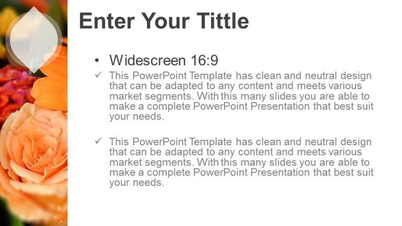 Powerpoint para presentacionesFlores