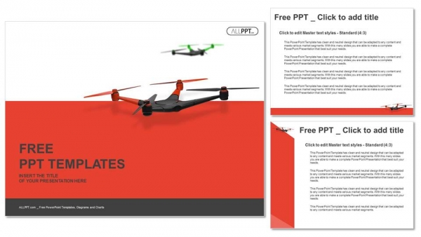 Diapositivas plantilla powerpointZángano volador