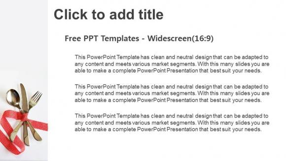 Presentaciones plantilla powerpointTenedor y cuchillo con cinta