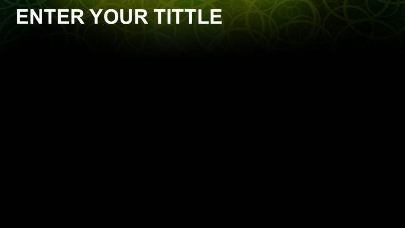 Powerpoint para presentacionesLibre Negro verde