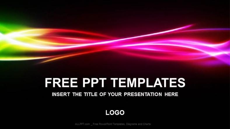 Diapositivas plantilla powerpointArco iris libre