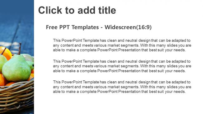 Descargar Presentaciones plantillas powerpointCesta de frutas frescas