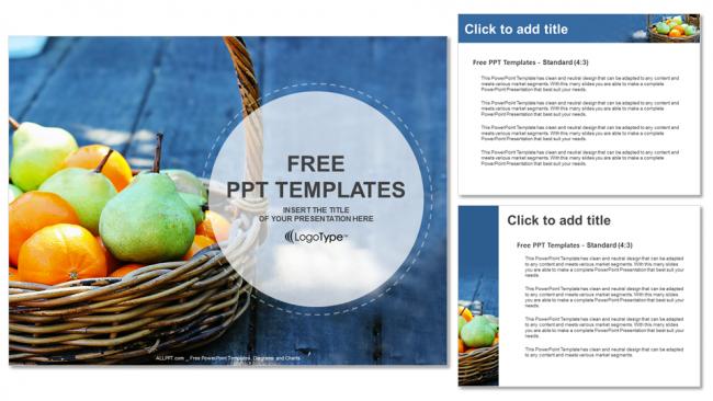 Presentaciones plantilla powerpointCesta de frutas frescas