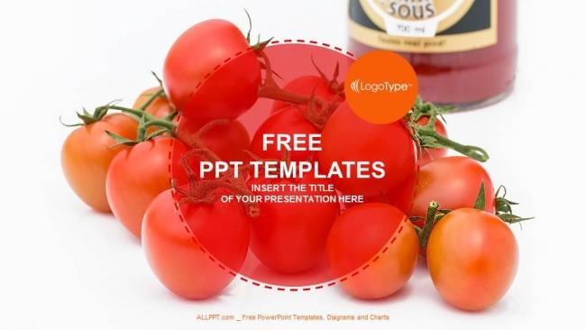 Plantilla Powerpoint: Tomates frescos